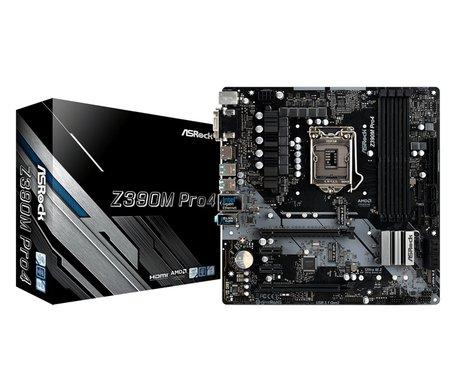 Asrock Z390M Pro4 moederbord LGA 1151 (Socket H4) Micro ATX Intel Z390