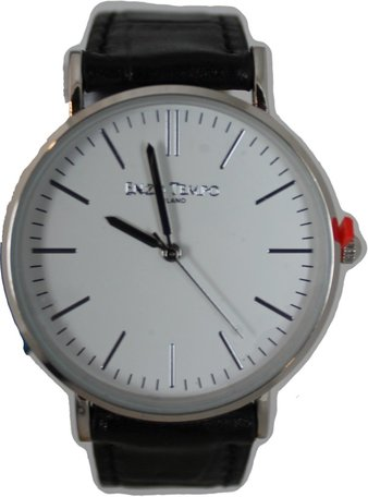 Enzo Tempo heren horloge - Zwart/wit
