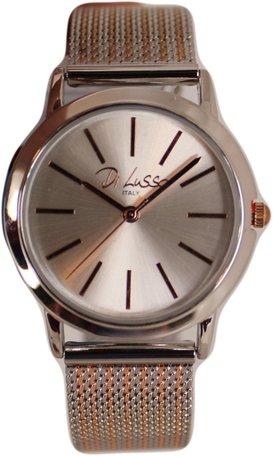 Di Lusso dames horloge - Zilver/rose