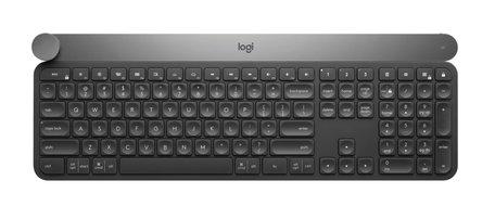 Logitech Craft toetsenbord RF Wireless + Bluetooth QWERTY US International Zwart, Grijs