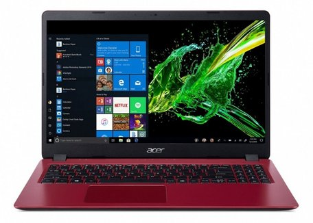 Acer Aspire 15.6  HD / i3-7020U / 4GB / 256GB / W10 RED