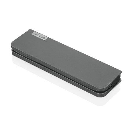 Lenovo USB-C Mini Dock Bedraad USB 3.2 Gen 1 (3.1 Gen 1) Type-C Grijs