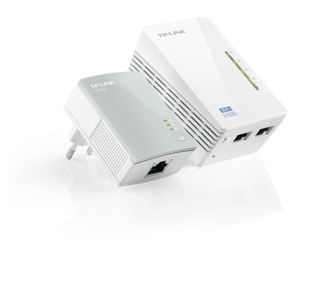 TP-LINK TL-WPA4220KIT PowerLine-netwerkadapter 300 Mbit/s Ethernet LAN Wi-Fi