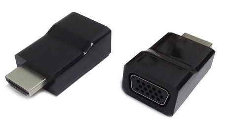 Gembird A-HDMI-VGA-001 kabeladapter/verloopstukje Zwart