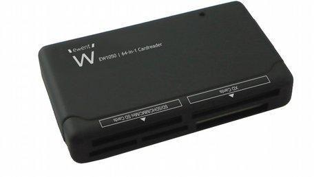 Ewent EW1050 geheugenkaartlezer Zwart USB 2.0