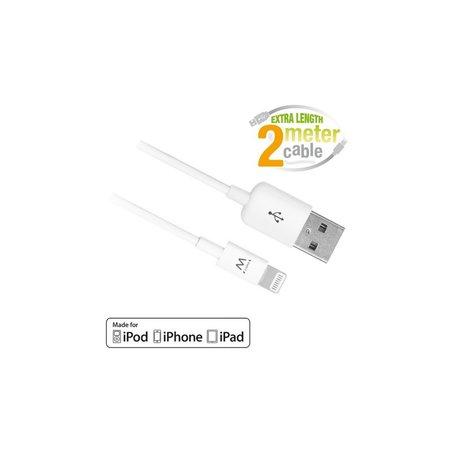 Ewent EW9902 Lightning-kabel 2 m Wit