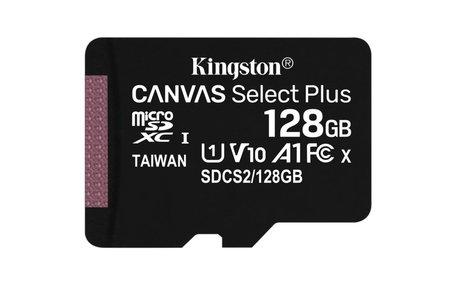 Kingston Technology Canvas Select Plus flashgeheugen 128 GB MicroSDXC Klasse 10 UHS-I