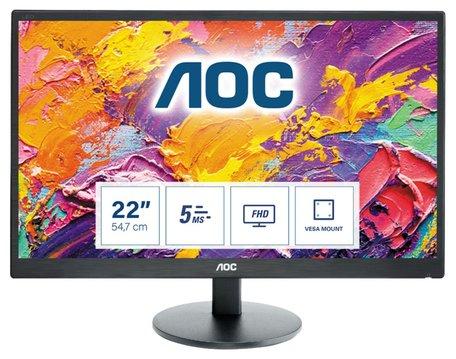 MON AOC E2270SWdN 21.5inch / LED / VGA / DVI  / FULL-HD / REFURB