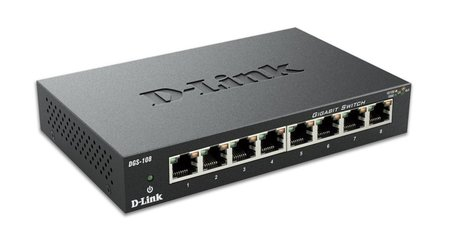 D-Link DGS-108 netwerk-switch Unmanaged Zwart