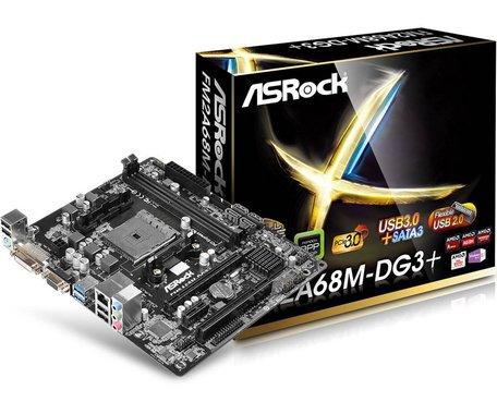 Asrock FM2A68M-DG3+  FM2 / DVI  / USB3.0 / M-ATX