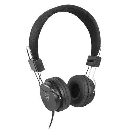 Ewent EW3573 headphones/headset Hoofdtelefoons Hoofdband Zwart